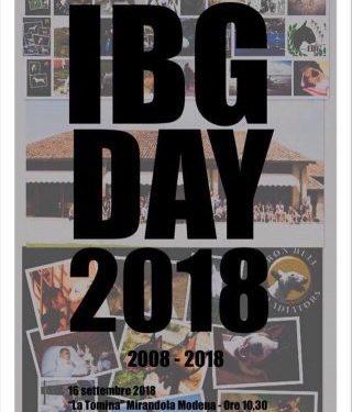 IBG DAY 2018 – MIRANDOLA 16 Sept 2018