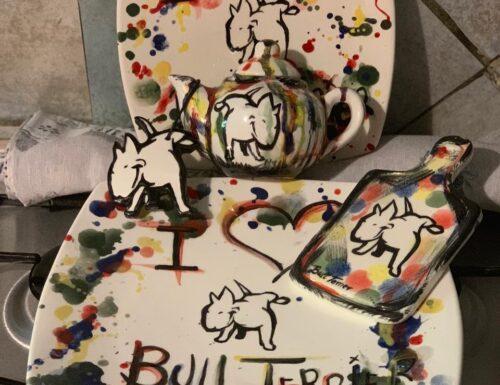 """BULL TERRIER ART """"THE IRON BULL'S KILLER INSTINCT"""""""