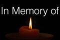 IN MEMORY OF...un caro abbraccio alle loro famiglie